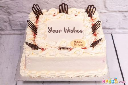 Write Name On Chocolate Birthday Cake Pictures