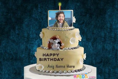 Happy Birthday Cake For Kids With Name And Photo Edit