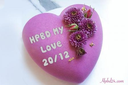 Heart Shaped Birthday Cake With Name Editor