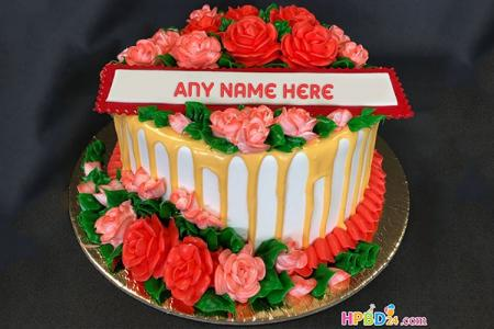 Lovely Rose Cakes With Name Generator