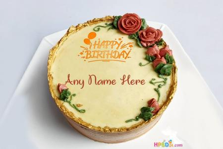 Lovely Birthday Flower Cakes With Name Edit