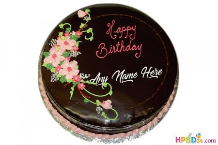 Chocolate Birthday Cake By Name Free Download