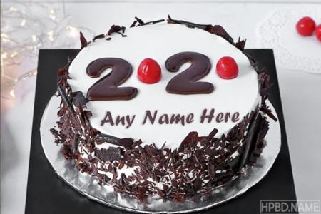 Black Forest New Year 2020 Cake With Name Online Free