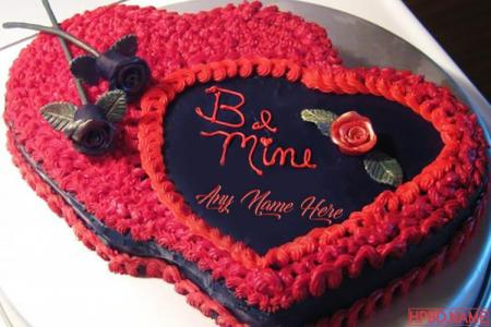 Be Mine Valentine Birthday Cakes With Name Edit