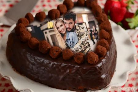 Creative Chocolate Birthday Cake Photo Frames