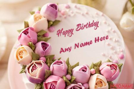 The Best Flowers Birthday Cake With Name Generator