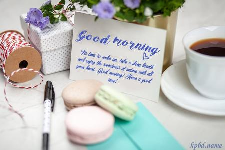 Free Good Morning Greetings Cards Maker
