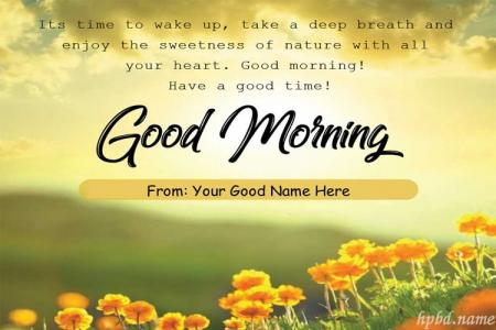 Good Morning Wishes Card Pictures With Name Edit