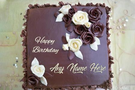 Happy Chocolate Birthday Cakes by Name Online