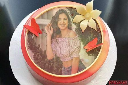 Collage Photos on Apple Birthday Cake Online