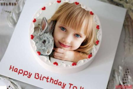Make Name and Photo on Birthday Cake Online