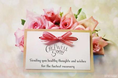Customize Your Own Get Well Soon Card With Name Wishes