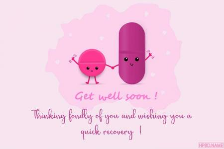 Funny Get Well Soon Card For Kids