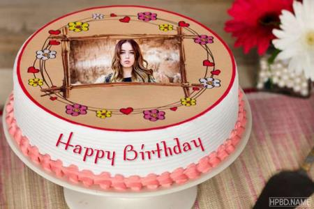Special Happy Birthday Cake With Photo Frame