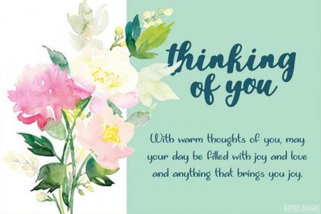Free Printable Thinking of You Card Maker Online