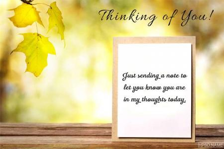 Customize Thinking of You Greeting Card for Friends