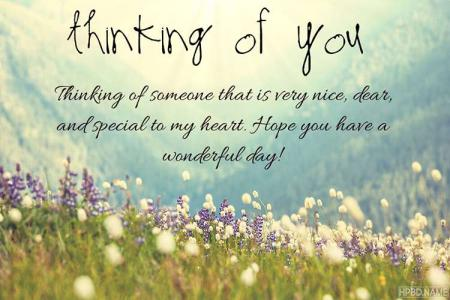 Create Custom Thinking of You Image Cards Online