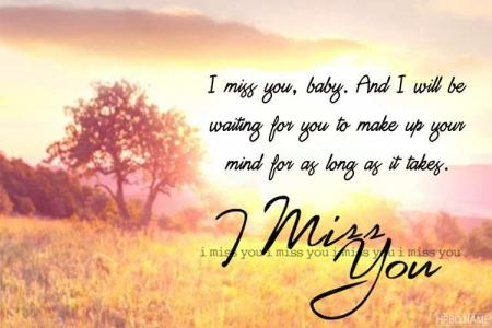 Miss You eCard - Free Simple Miss You Greeting Cards Online