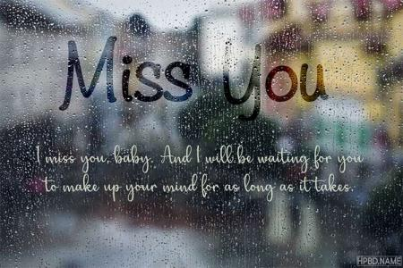 Rain Miss You Cards Template Making Online