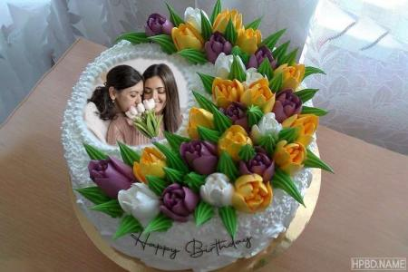 Lovely Tulip Birthday Cake for Mom With Photos