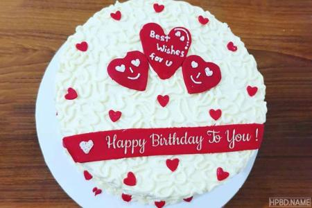 Lovely Happy Birthday Cake With Name Generator