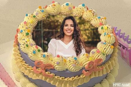 Free Birthday Colorful Candy Cake With Photo Frames