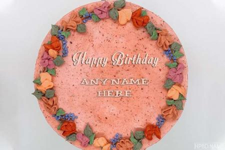 Creative Flower Birthday Name Cakes Online Free