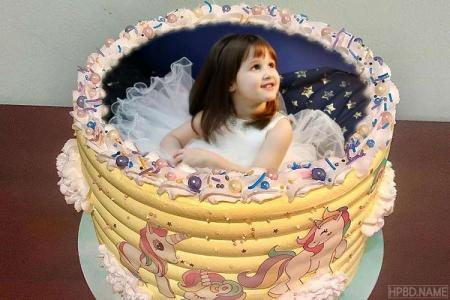 Best Cartoon Birthday Cake for Kids With Photo Edit