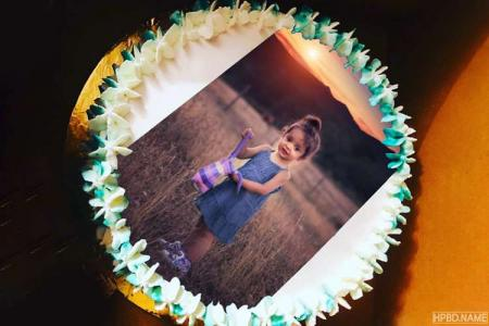 Print Photo On Lovely Buttery Cream Birthday Cake