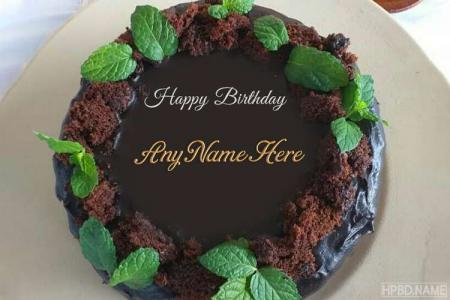 Yummy Dark Chocolate Birthday Cake With Name Online