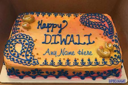 Happy Diwali Wishes Cake With Name Edit