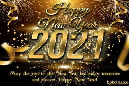 Make Luxury Happy New Year 2021 Card Images
