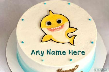 Funny Fish Birthday Wishes Cake With Name