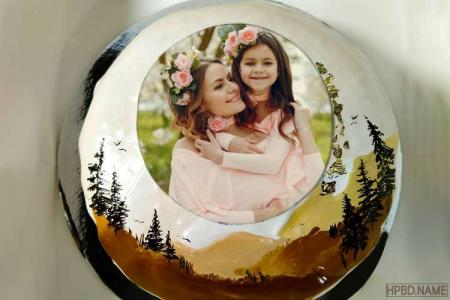 Unique Forest Birthday Cake With Photo Frames