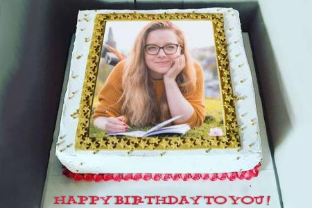 Beautiful Birthday Cake With Name And Photo