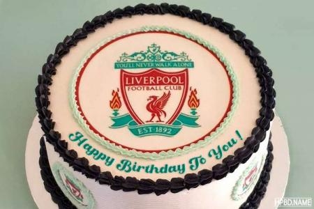 Liverpool Birthday Cake With Name Edit