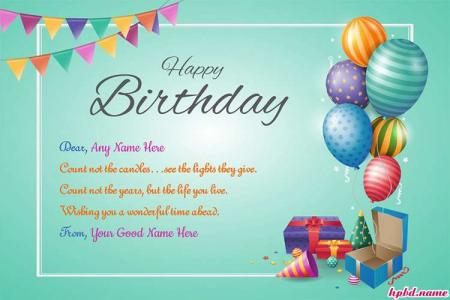Happy Birthday Special Day Wishes With Name Edit