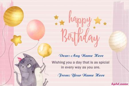 Write Name On Happy Birthday Wishes For Friends