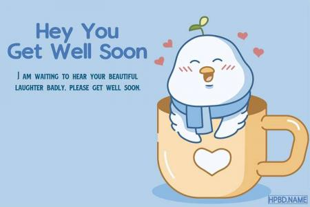Free Get Well Soon Cards With Cute Bird