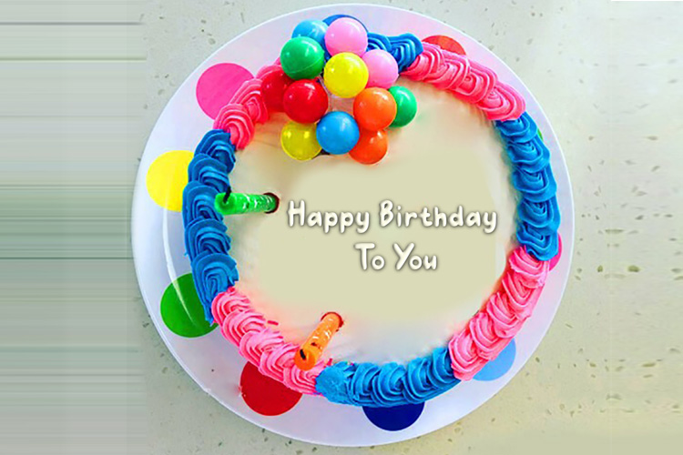 Write your name on a beautiful birthday cake