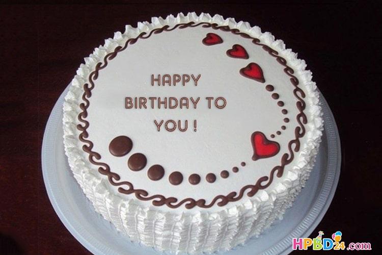 Write Name on Chocolate Icream Birthday Cake Online