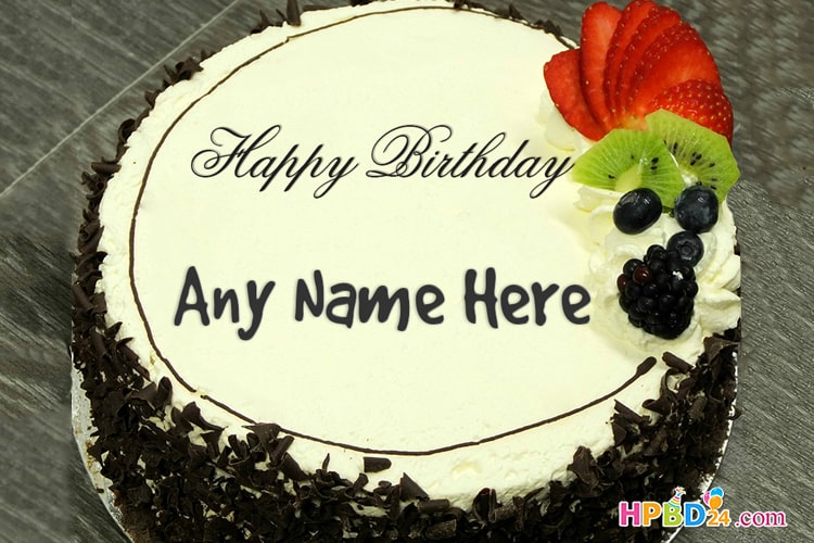 Peachy Happy Birthday Cake With Name And Photo Edit Online Free Download Funny Birthday Cards Online Elaedamsfinfo