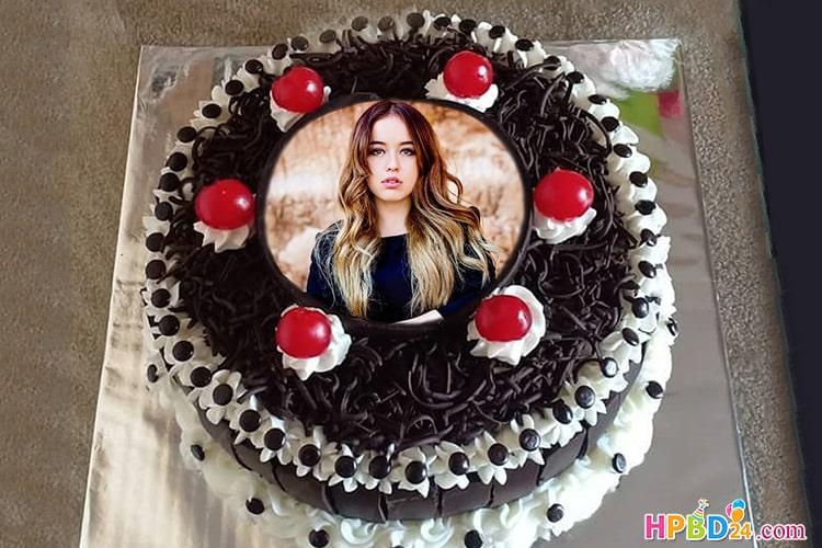 Latest Chocolate Birthday Cake With Photo Print
