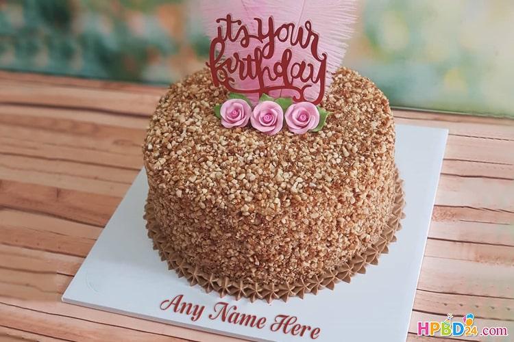 Mocca Nougat Cake With Name Editor