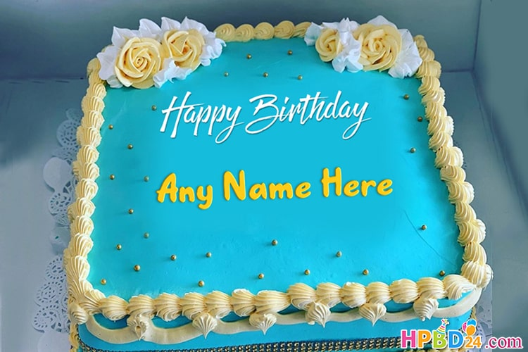 Beautiful Happy Birthday Name Cake Images