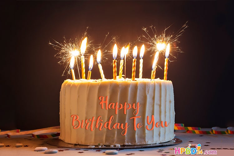 Birthday Cake With Candles.Write Name On Happy Birthday Cake With Candles