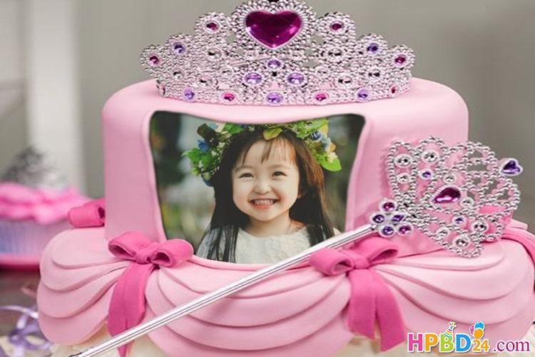 Princess Birthday Cake With Name And Photo Edit