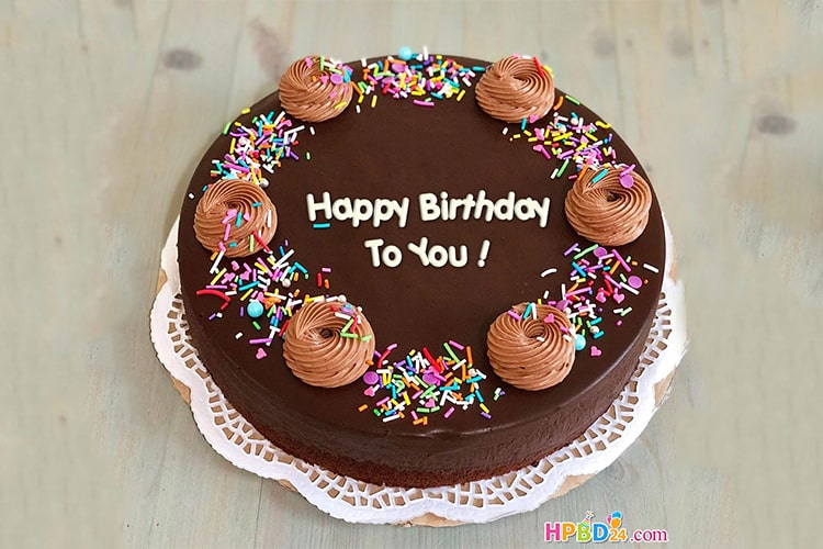 Magnificent Happy Birthday Chocolate Cake With Name Edit Funny Birthday Cards Online Inifofree Goldxyz
