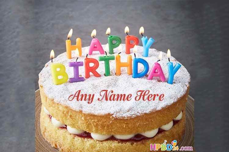 Happy Candle Birthday Cakes With Name Generator