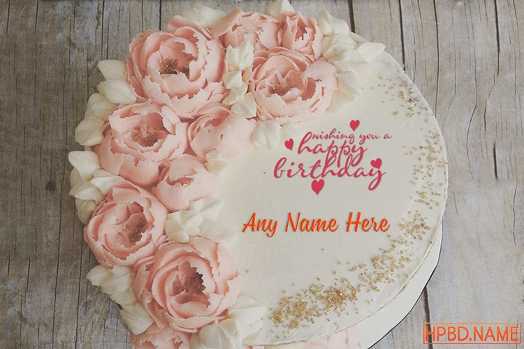 Birthday Flower Cakes With Names Generator